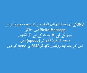 Wifaq ul Madaris Result 2019 By SMS