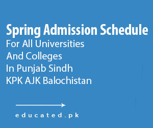 spring admissions in pakistani universities 2019